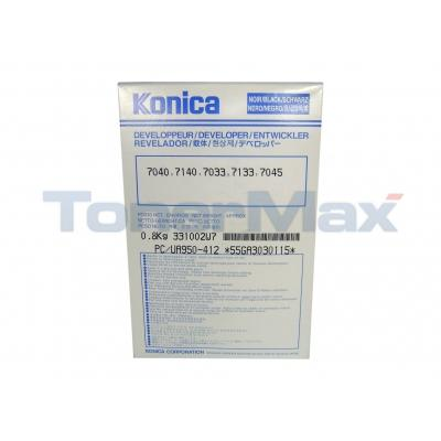 KONICA 7033 7040 DEVELOPER BLACK